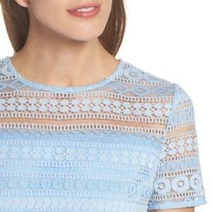 Chelsea28 Dresses - NWTs CHELSEA28 • Lace Light Blue Flare Dress